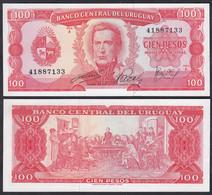 Uruguay - 100 Pesos Banknote (1967) UNC Pick 47    (23228 - Otros – América