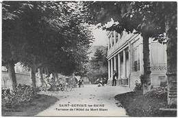 74 - Saint-Gervais-les-Bains -Terrasse De L'HOTEL Du MONT-BLANC -   CP Non écrite - Cliché M. Bourrey - Saint-Gervais-les-Bains