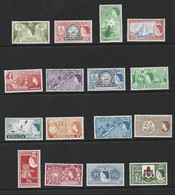 Bermuda 1953 QEII Definitives First Issue Set Of 16 MNH + 3 Later Issues - Bermuda