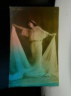 Vaudeville Actress Ida Fuller Div Back Calcium Light Postcard Posted 1907 EX - Künstler