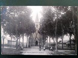 36 ,  Le Poinçonnet ,la Place Et L'église En 1915 - Other Municipalities