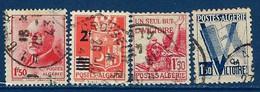 """Algerie YT 196 à 199 """" Série 4 Tp """" 1942-43 Oblitéré - Oblitérés"""