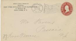 "USA 1907 2 C Washington Superb STO PS Env Machine FLAG Postmark ""PASSAIC, N.J."" - 1901-20"