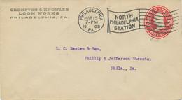 USA 1908/15 3 Versch. TWO CENTS Washington GA-Umschläge PHILADELPHIA STATION Pmk - 1901-20