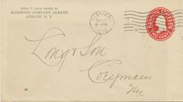 """USA 1910 2C Washington Superb STO PS Env Machine Postmark """"""""ALBANY, N.Y.."""" - 1901-20"""
