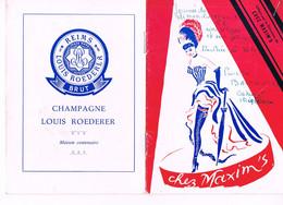 MAXIM'S - GENEVE - 1962 - - Programs