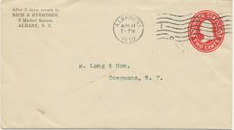 """USA 1910 2C Washington Superb STO PS Env Machine Postmark """"""""ALBANY, N.Y.."""" No 1 - 1901-20"""