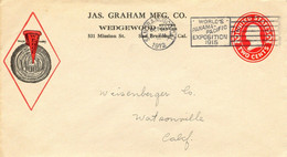 USA 1912 Washington 2C Rot Herrl. Kab.-Privat-GU JAS.GRAHAM MFG. Co. - WEDGEWOOD - 1901-20