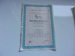 EURO DISNEYLAND ( Action) - Unclassified