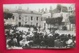 28 Epernon 26 Mai 1912 Carte-photo Pompier Concours Des Pompes TB Animée éditeur A.Lépine Photo Dos Scanné - Epernon