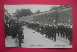 28 Epernon 26 Mai 1912 Carte-photo Pompiers En Présentation Rangés TB Animée éditeur A.Lépine Photo Dos Scanné - Epernon