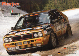 Voiture, Rallye. Racing Maim Jack Team - LANCIA DELTA - Pilote F. BURKART, Co-pilote A. ZUNFTMEISTER - BE - Rally Racing