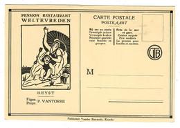 Heist   Heyst   Pension Restaurant Weltevreden  Eigenaar P Vantorre  (Publiciteit Vander Bauwede Knokke) - Heist