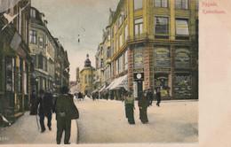 DENMARK COPENHAGEN KJOBENHAVN NYGADE STREET SCENE POSTCARD - Denmark