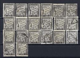 Frankreich Lot Portomarken Gestempelt/*/(*) - 1859-1955 Afgestempeld