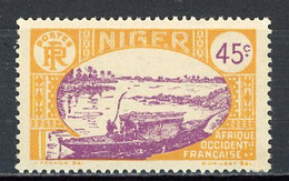 NIGER- Yv.  40   *  45c  Embarcation   Cote  1,5  Euro  BE    2 Scans - Ongebruikt