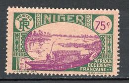 NIGER- Yv.  43   *  75c  Embarcation   Cote 2  Euro  BE   2 Scans - Ongebruikt