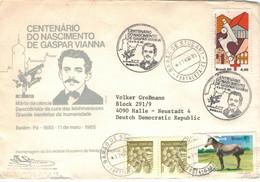 Gaspar Vianna Arzt - Barao De Studart Fortaleza 1985 - Mikroskop Rotes Kreuz Babacu - Medicina