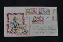 NOUVELLE HÉBRIDES - Enveloppe FDC ( Bougainville ) En Recommandé Pour Paris En 1968 - L 93144 - FDC