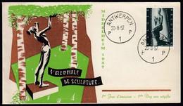 Belgium 1957 / Sculpture Exhibition, Art, Kneeling Woman Sculpture By Lehmbruck - Escultura