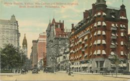 USA 1910 Superb Mint Col. Pc Hotels Stenton, Walton, Ritz-Carlton, Bellevue-Stratford, South Broad Street PHILADELPHIA - Philadelphia
