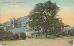 USA 1920 Mint Coloured Pc Horticultural Hall, Fairmount Park, PHILADELPHIA - Philadelphia