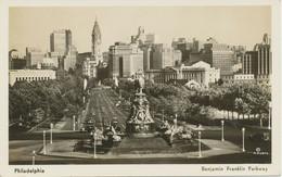"USA 1940 Superb Mint B/w RP Pc ""PHILADELPHIA – Benjamin Franklin Parkway"" - Philadelphia"