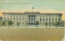"USA Ca. 1920 Used Coloured Pc (faults) ""United States Mint House, PHILADELPHIA - Philadelphia"