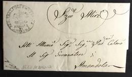 1837 AMANDOLA X. CITTA' - 1. ...-1850 Prephilately
