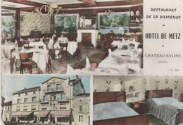 Cpsm 10x15. Multi-vues. CHATEAU-SALINS (57) Restaurant De La Diligence. Hôtel De Metz ( Pub Bière Champigneulles) - Chateau Salins