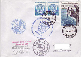FSAT TAAF Marion Dufresne. 02.04.96 Durban MD 103 Camapagne Oceanographique - Covers & Documents