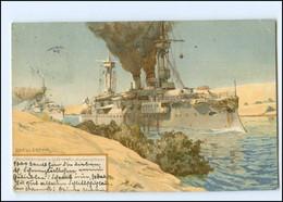 XX13197/ Panzerdivison Im Suez-Kanal Brandenburg-Klasse Marine Litho AK R. Frank - Guerra