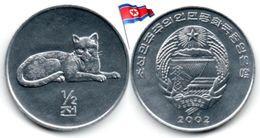 Corée Du Nord - ½  Chon 2002 (UNC - Léopard) - Korea, North