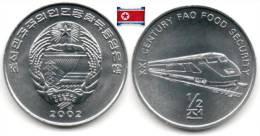 Corée Du Nord - ½ Chon 2002 (Modern Train - UNC) - Korea, North
