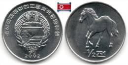 Corée Du Nord - ½ Chon 2002 (Horse - UNC) - Korea, North
