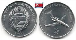 Corée Du Nord - ½ Chon 2002 (Jet Plane - UNC) - Korea, North