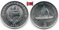 Corée Du Nord - ½ Chon 2002 (Ancient Ship - UNC) - Korea, North