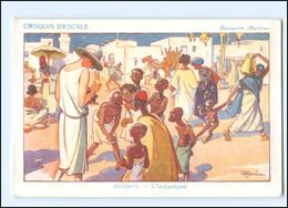 XX009017/ Croquis D`Escale Dschibuti Ostafrika Künstler AK H. Gervese   Maritim - Unclassified
