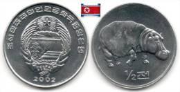 Corée Du Nord - ½ Chon 2002 (Hippopotamus) (UNC) - Korea, North
