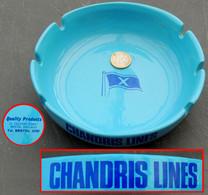 Ancien Grand Cendrier Compagnie Grecque CHANDRIS LINES Liaison Grèce Australie - Boats