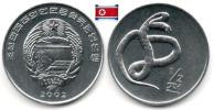 Corée Du Nord - ½ Chon 2002 (Snake-viper )(UNC) - Korea, North