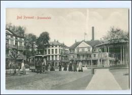 XX13119/ Bad Pyrmont Brunnenplatz Pferdebahn AK Ca.1910 - Unclassified