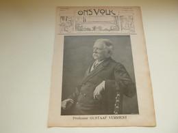 """Origineel Knipsel ( 3717 ) Uit Tijdschrift  """" Ons Volk """"  1911 :  Professor Gustaaf Verriest   Deerlijk - Zonder Classificatie"""