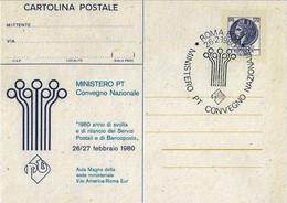 Cartolina Postale MINISTERO P.T. Seconda Tiratura (1980); AS_Roma - Interi Postali