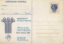Cartolina Postale MINISTERO P.T. Seconda Tiratura (1980); Nuova - Interi Postali