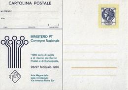 Cartolina Postale MINISTERO P.T. Prima Tiratura (1980); Nuova - Interi Postali