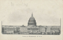 "USA 1900 Mint B/w Pc (faults, Creased) ""CAPITOL At WASHINGTON, D.C."" Very Rare - Washington DC"