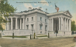 "USA 1910 Mint Coloured Pc ""Memorial Continental Hall, WASHINGTON, D.C."" - Washington DC"
