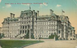 USA 1910 Mint Coloured Pc State, State, War & Navy Departments, WASHINGTON, D.C. - Washington DC