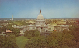 USA 1960/70 Superb Mint Col Pc Looking From The Treasury Building Towards Autiful United States Capitol, WASHINGTON DC - Washington DC